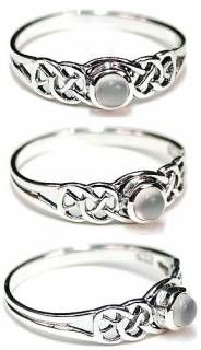 Moonstone and celtic knot
