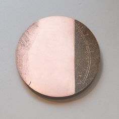Metal Art - Etched silver -plated copper, brass, pattern, surface texture by Artist Rebecca Gouldson