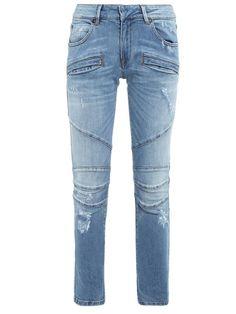 Inspiração Gente!!   CalÇa Jeans Recortes  Azul de 161790 por... <3 GANHE MAIS DESCONTO! CLIQUE AQUI!  http://imaginariodamulher.com.br/look/?go=2jqL1QP
