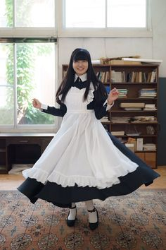 Maid Outfit, Maid Dress, Dress Outfits, Fashion Outfits, Dresses, Maid Cosplay, Maid Uniform, Girl Model, Aesthetic Clothes