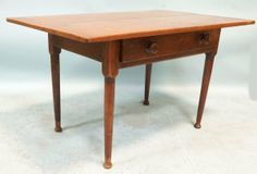 18th CENTURY EARLY AMERICAN TAVERN TABLE : Lot 101