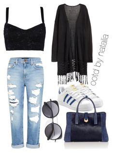 """Untitled #5"" by astutinatalia on Polyvore featuring Dolce&Gabbana, Genetic Denim, H&M, adidas Originals and Wood Wood"