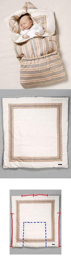 Выкройка Конверта для новорожденного Burberry!!! (Одеяло-трансформер)) - Рукоделие - 424129 - одеяло трансформер - Babyblog.ru | Идеи из ткани | Постила