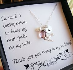 Bridesmaid thank you cards thank you for being in by BriguysGirls, $47.00
