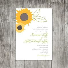 Sunflower Wedding Invitations