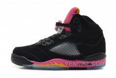 hot sale online 312f6 3a826 Girls Air Jordan 5 Retro GS Pink Citrus Black Bright Citrus-Fusion Pink For  Sale Women Air Jordan 5 - Nike official website Up to discount