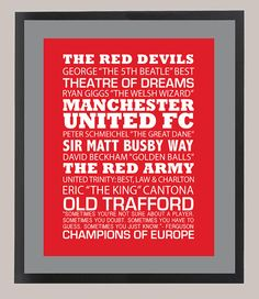 Hey, I found this really awesome Etsy listing at https://www.etsy.com/listing/208496420/manchester-united-fc-football-club-11-x