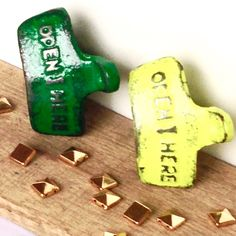 Updates from ShineBoxPrimitives on Etsy Unique Bottle Openers, Beer Bottle Opener, Beer Gifts, Lucky Charm, Go Green, Auction, Ebay, Decor, Decoration