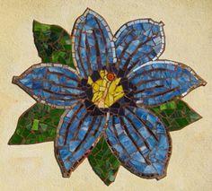 Blue Eyed Grass                #mosaic #flowers #art