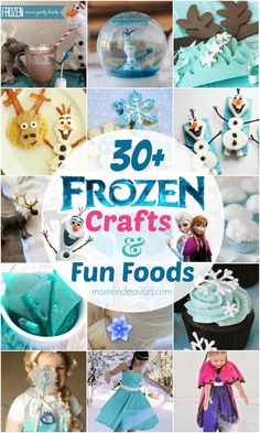 30+ Disney Frozen Crafts  Fun Food Ideas via momendeavors.com #Disney #Frozen