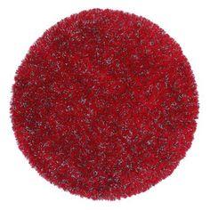 ACHICA | Rug Bazaar 200x200cm Rug, Red/Grey