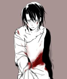 Shingeki no Kyojin - Levi That's bad, for some reason he remains me here L from Death Note and from the beginnig I had a feeling Levi is gonna die in one chapter just like L. I hope that won't happen T_T