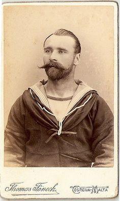 (via Vintage Sailor Portrait )
