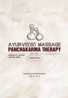 Certificate Course on Ayurveda Massage and Panchakarma Therapy Courses. Hurry!! Join the course now. Limited seats. https://goo.gl/jfTYed #ayurveda #education #ayurvedacourses #panchakarmatherapy #ayurvedamassage #ayurvedichealth