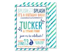 Hey, I found this really awesome Etsy listing at https://www.etsy.com/listing/268216333/boy-splash-water-birthday-invitation