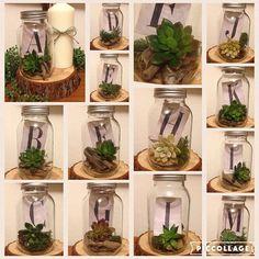 【koro_wedding2016】さんのInstagramをピンしています。 《テラリウム風テーブルナンバー A〜Mの13卓分作成しました✨ 中の多肉植物は造花ですがゲストからは本物かと思ったととても好評でした╰(*´︶`*)╯♡ ガラス瓶の中身は ・造花多肉植物 ・ヴィンテージ風アルファベットカード ・ミニ流木 ・グリーンモス で構成されていて、1つ1つバランス等こだわって作成しました こちらのテーブルナンバーはこっそりメルカリとフリルに出品中ですので気になった方は「テーブルナンバー」で検索して覗いてみてください♡ 見てみたいのに見つからない〜という方は直接お問い合わせいただければ助かります✨ #テーブルナンバー #花嫁DIY #卒花 #ナチュラルウェディング #ラスティックウェディング #アウトドアウェディング #テラリウム #多肉植物 #ウェディングニュース #marry #marryxoxo #rusticwedding #手作りテーブルナンバー》
