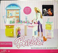 New In Box 2006 Barbie Vet Center Playset