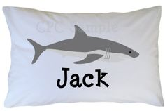 Shark Pillow Case Personalized
