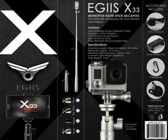So....What's Included in the Box? Everything you need for your GoPro or Smartphone.  #EGIIS   #X33Hybrid   #SelfieStick   #Monopod   #GoPro   #CLIXIE    www.EGIIS.com
