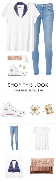 """ Shout out in the d "" by psherminwallabieway ❤ liked on Polyvore featuring Converse, Kate Spade, Frame, H&M, Free People, Urban Decay and Essie"