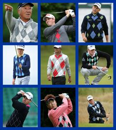 Awesome argyle at the Open Championship