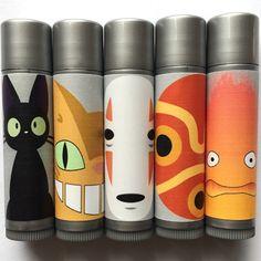 Miyazaki Tints collection by Shiro Cosmetics. Tinted Lip Balm, Lip Tint, Pretty Makeup, Fun Makeup, Indie Makeup, Dear Daughter, Pretty Packaging, Vegan Beauty, Geek Girls