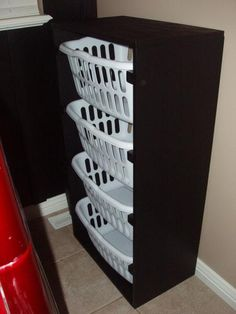 really want to do this!!! I hate laundry baskets everywhere and now they can all be in one place and laundry can't fill up too much!!!