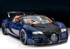 Blue Carbon Bugatti Veyron Vitesse