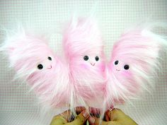 cotton candy guys - cute for a bag