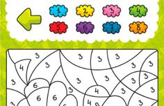 Coloring Smart app. Math and shape concepts.