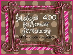 First Grade Fairytales: Fabulous 400 Follower MEGA Giveaway!!! (and Weekly Homework!)