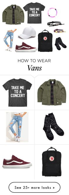 """Emma *My bestie* Made this"" by haileywilkins1 on Polyvore featuring Vans, claire's, Rastaclat and Fjällräven"