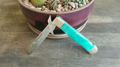 Place your bids now, less than 1 hr remains! FROST CUTLERY GREEN FOLDING KNIFE #FrostCutlery