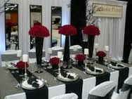 Black white and red wedding table settings. Black white and red wedding table settings. White Wedding Decorations, Wedding Themes, Wedding Centerpieces, Wedding Colors, Table Decorations, Wedding Ideas, Trendy Wedding, Reception Decorations, Wedding Planning