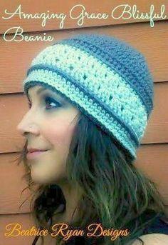 Amazing Grace Blissful Beanie - Free Crochet Pattern