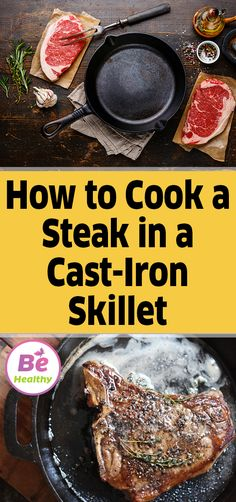 You don't need to visit a fancy restaurant to enjoy a tender, juicy steak. Our tried-and-true method makes it easy to cook skillet steak at home. How To Make Steak, How To Grill Steak, Skillet Cooking, Skillet Meals, Skillet Recipes, Grilled Steak Recipes, Grilled Meat, Avacoda Recipes, Dinner Recipes