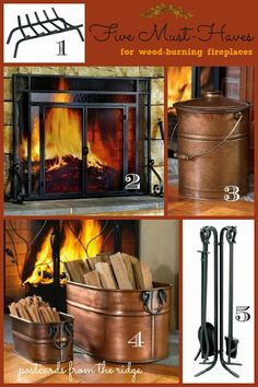 Five necessities for a wood-burning fireplace