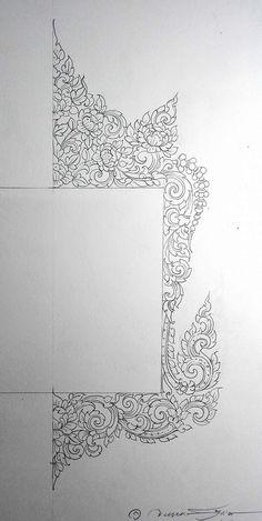 Thai Pattern, Thailand Art, Thai Art, Art Friend, Mural Art, Art Reference, Graphic Art, Pattern Design, Stencils