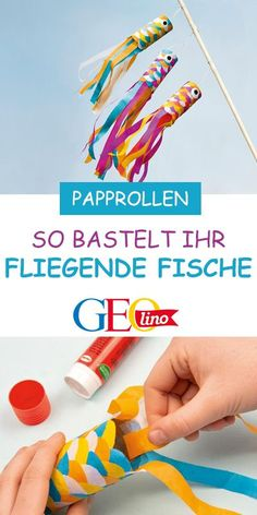 """Fliegende Fische springen aus dem Wasser und gleiten dann sekundenlang durch die… Flying fish jump out of the water and then glide through the air for seconds. How do you tinker the """"flying fish"""", you learn on GEOLINO. Kids Crafts, Diy And Crafts, Arts And Crafts, Upcycled Crafts, Etsy Crafts, Wallpaper Marvel, Fish Jumps, Mason Jar Crafts, Diy For Kids"""