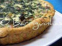 Quiche de espinafres bacon e salsichas : http://pt.petitchef.com/receitas/entrada/quiche-de-espinafres-bacon-e-salsichas-fid-1487332
