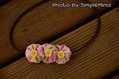 Pink, Green and Yellow Yoyo Headband | Simple Mind