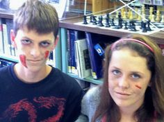 Beware! Be afraid these readers were transformed into gruesome Zombie Readers at the Zombie Makeover Program at the Lewisboro Library in South Salem, NY. Thanks for sharing Dolores!