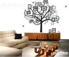 Family Tree Wall Decal - Picture Frame Tree. $98.00, via Etsy.