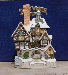 David Winter Christmas Cottage  The Scrooge by vladamikdesigns, $65.00