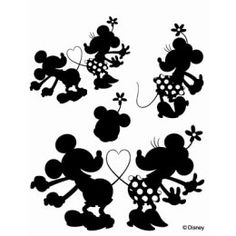 mickey and minnie silhouettes | Disney clear stamps (Mickey & Minnie 3) and [specify OK: Scrapbooking ...