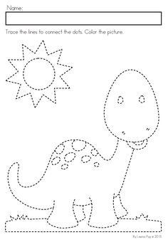 Dinosaur Preschool No Prep Worksheets & Activities Dinosaurs Preschool, Dinosaur Activities, Preschool Writing, Toddler Learning Activities, Preschool Lessons, Preschool Activities, Kids Learning, Kindergarten Addition Worksheets, Kindergarten Coloring Pages