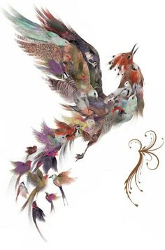 Simurgh/simorgh is a benevolent, magical flying creature, a famous character in Persian Mythology. It is sometimes equated with other mythological birds, that also have some origins within simurgh, such as the Griffin or Pheonix. It has been depicted within Iranian art and literature for centuries.