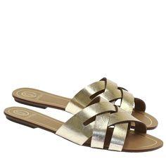 43595ea41c Compre Sandália Rasteira Ouro 2098 na Moselle sapatos finos online! Moselle  é feminina. Sandalia