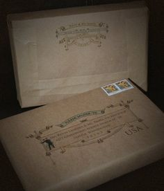 vintage invitation box