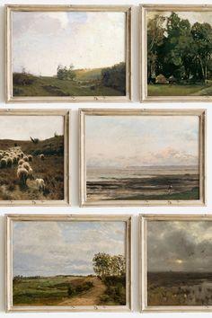 Landscape Art, Landscape Paintings, Vintage Landscape, Painting Inspiration, Art Inspo, Wall Decor, Wall Art, Framed Art, Art Photography